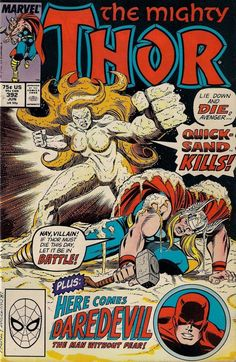 THOR # 392 MARVEL COMIC 1988 RON FRENZ / TOM DeFALCO vf