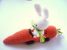 AllSoCute Amigurumis: PDF Amigurumi Crochet Bunny and Carrot Car Pattern