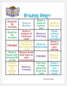 Make Summer Reading Fun with this Reading Bingo - The Resourceful Mama Reading Bingo, Reading Incentives, Reading Charts, Reading Logs, Reading Help, Reading Workshop, Kids Reading, Teaching Reading, Reading School