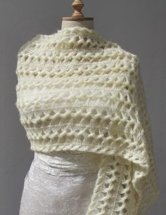 Bridal Wrap Hairpin Crochet Shaw