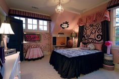 Pink & Black bedroom