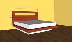 Endearing How To Build A King Size Platform Bed Plans Design With Wooden Headboard Bed And Floating Bed Frame Plans With Queen Mattress Size Also Storage Bed, Inspiring Design How To Build A Queen Size Platform Bed: Furniture