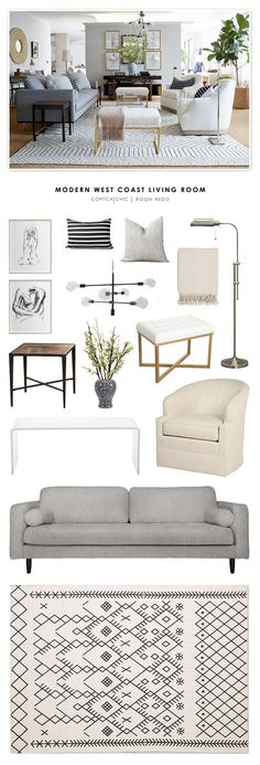 TOTAL | $3,561 SOFA $849 | SWIVEL CHAIRS (EA) $423 | RUG $199 | CHANDELIER $279 | OTTOMANS (EA) $78 | COFFEE TABLE $279 | FLOOR LAMP $120 | PATTERNED PILLOWS (2) $240 | STRIPED PILLOWS (2) $120 | PR