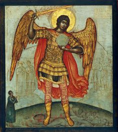 Mikail (Saint Michael) at the Andrei Rublyov Museum of Early Russian Art in Moscow Russian Icons, Russian Art, Religious Icons, Religious Art, Archangel Raguel, Archangel Uriel, Seven Archangels, Byzantine Art, Angels Among Us