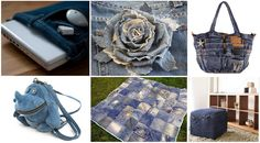 practical ideas of denim, tablet cover, rose, bag, Rhino backpack, blanket, quilt, pouf ottoman of jeans