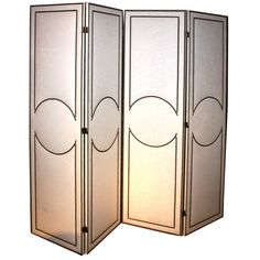 Art-Deco Style Custom 4-Panel Screen | From a unique collection of antique and modern screens at https://www.1stdibs.com/furniture/more-furniture-collectibles/screens/
