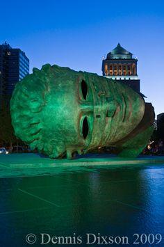 Igor Mitoraj's sculpture, Eros Bendato (Eros Tied) (bronze), Hollow inside, so you can step in & peek out of his eyes. Public Sculpture, Igor Mitoraj, Gargoyles, Great Artists, Amazing Art, Sculpture, Art, Heroic, Sculpture Park
