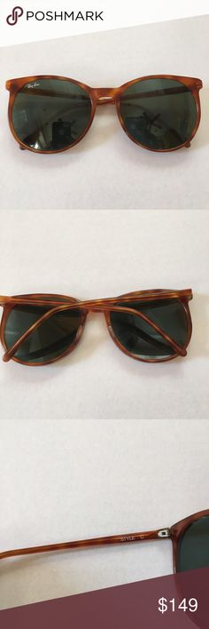 Vintage Rayban tortoise men's sunglasses Very cool retro pair of Raybans style C. ***Has scratches on lenses. These are sold as is. Ray-Ban Accessories Sunglasses