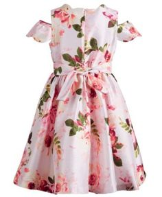 ea2b7a669684 Bonnie Jean Little Girls Floral Shantung Dress - Pink 5