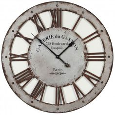 1000 images about horloges on pinterest brocante d and for Horloge murale 3 cadrans