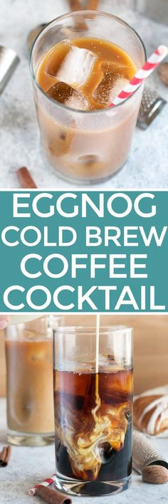 Eggnog Cold Brew Coffee Cocktail   cakenknife.com #cocktail #coffeecocktail #coldbrew #ad