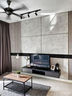 Tv Panel, Loft Style, Desk, Interior Design, Furniture, Home Decor, Tv Feature Wall, Nest Design, Desktop