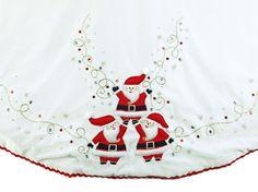 """56"""" White Velvet Santa Tree Skirt"""