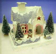 Use this project to add 'killer' charm to your Christmas village.  Click for bigger photo.