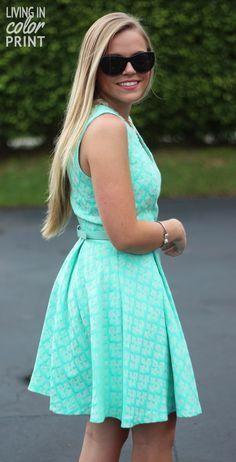 Dress for Summer: Mint Jacquard