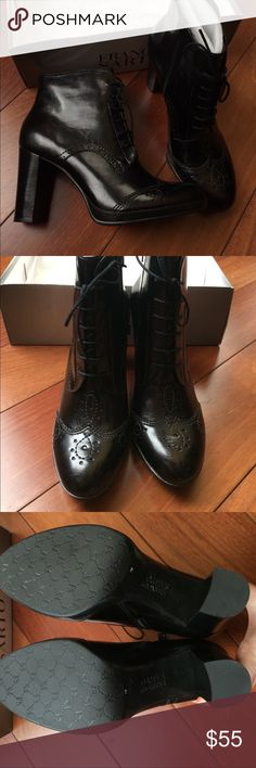 NIB Franco Sarto Lace-Up Boots Brand new, still has factory packing. Synthetic material, high quality. Size 7M, not too narrow. Franco Sarto Shoes Heeled Boots