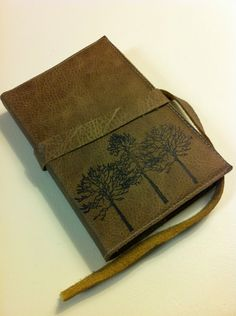 leather journal handprinted via Etsy.
