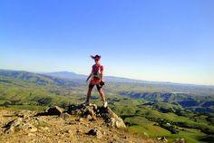 Catra Corbett on Rose Peak, Ohlone Wilderness Trail