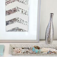 Add some sparkle and shine to your home with this simple sequin wall art project.