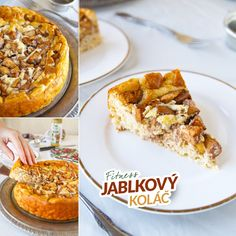 Fitness jablkový koláč z ovesných vloček - zdravý recept by Bajola Low Carb Recipes, Diet Recipes, Healthy Recipes, Good Food, Yummy Food, Gluten Free Baking, Healthy Life, Clean Eating, Food And Drink