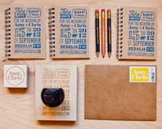 Stamped Save the Dates