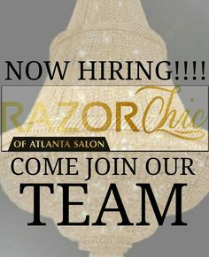 LICENSED HAIRSTYLIST AND ASSISTANTS NOW HIRING:  Please send a resume social media information FB/IG  and a recent image of yourself to info@razorchicofatlantasalon.com  Please indicate in the subject field  STYLIST OR ASSISTANT Thanks and looking forward to u joining our team. by razorchicofatlanta