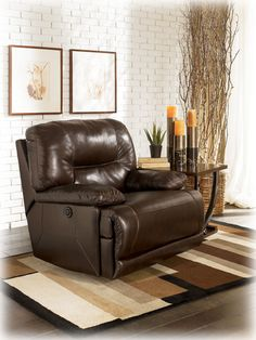 Shop Bromley - Brown Power Rocker Recliner with great price, The Classy Home Furniture has the best selection of to choose from Living Room Furniture, Home Furniture, Living Room Decor, Condo Interior Design, Power Recliners, Contemporary Style, Upholstery, Chair, Brown
