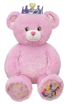 Build a Bear Disney Pink Princess Teddy Stuffed Plush Animal NWT New Disney Princesses, Disney Plush, Disney Bear, Princess Collection, Cute Teddy Bears, Build A Bear, Fairy Godmother, Plushies, Pretty In Pink