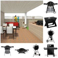 ATTENTION ALL GRILLERS -- NEW this week: Grills from Weber Grills & Crate and Barrel! Which is YOUR favorite?  Plan your Spring landscape & outdoor parties realistically in 3D!  3D floor plan & grill images designed by RoomSketcher Design Team