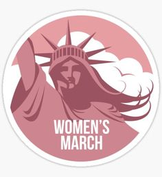 Women's March on January 21 to protest Trump's presidency. Sticker