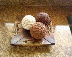 Bolas Decorativas Trio Café, canela,grão