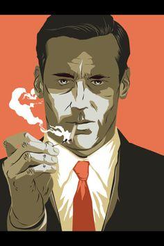Don Draper smoking