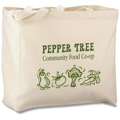 Promote your business with every trip to the grocery store with this eco-friendly tote! Custom Tote Bags, Personalized Tote Bags, Pepper Tree, Staff Gifts, Shopping Totes, Promote Your Business, Teacher Appreciation Gifts, Event Planning, Grocery Store