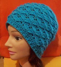 free crochet pattern adult hat dragon scale