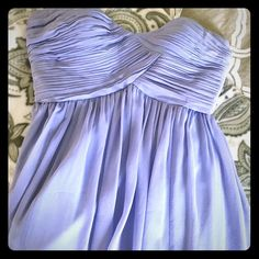 Strapless lavender cocktail dress Fancy and Flirty! It's a perfect spring time cocktail dress for: wedding, bridesmaid, holiday party, birthdays, bridal shower, bachelorette. Lavender light purple color. Material is silk and chiffon. Rouched sweetheart neckline, strapless. It's flowy and above the knee or at knee length depending on height. Brand new never worn, bought from Nordstroms. Donna Morgan Dresses Strapless Lavender Cocktail Dress, Lavender Dresses, Light Purple, Fashion Design, Fashion Tips, Fashion Trends, Spring Time, Bridal Shower, Strapless Dress
