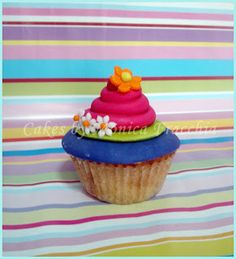 CUPCAKES / PONQUESITOS DECORADOS FLORES 2 | TORTAS CAKES BY MONICA FRACCHIA