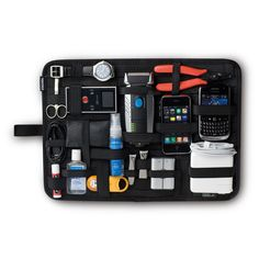 Cocoon GRID-IT XL - Big Organizer, Case with Elastic Straps, Travel Accessories, Wall Organizing System with Ring, - Black