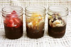brownie sundae in a jar. perfect if you already have the mason jars! #dessert