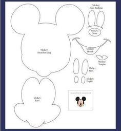 Meio Ligado: Moldes - Minnie e Mickey Mouse