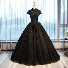 Buy Black Tulle Cap Sleeve Long High Neck Beads Ball Gown Open Back Prom Dresses uk in uk.Rock one of the season's hottest looks in a burgundy homecoming dress or choose a timeless classic little black dress. Burgundy Homecoming Dresses, Open Back Prom Dresses, Black Evening Dresses, Black Wedding Dresses, Prom Party Dresses, Ball Dresses, Bridal Dresses, Black Ball Gowns, Black Quinceanera Dresses
