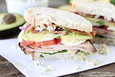 Cobb Salad Sandwich Recipe on www.twopeasandtheirpod.com This is one mighty sandwich!