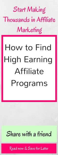 High Earning Affilia