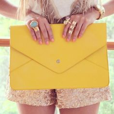Yellow clutch. Bam!