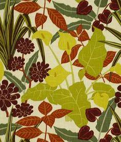Robert Allen @ Home Rowlily Jungle Fabric - $27 | onlinefabricstore.net