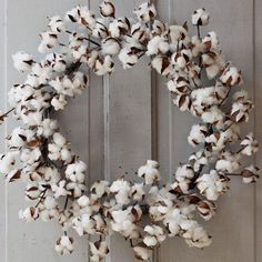 @antiquefarmhouse has cotton wreaths for sale, but not for long! Buy them now before they sell out!