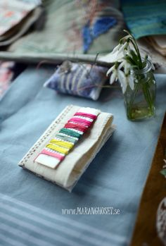 Vintage Stitching Kit  - Friendship embroidery - Handpicked - For simple Embroidery - DIY -