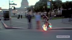 LED lights that turn your bicycle wheel into a digital art display Wheels And Tires, Car Wheels, Vossen Wheels, Bicycle Wheel, Bicycle Lights, Cheap Cars, Car Videos, Led, Alloy Wheel
