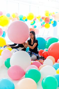 Geronimo Balloons + OHD Birthday Balloon Installation | Oh Happy Day! Large Balloons, The Balloon, Epic Party, Balloon Installation, A Little Party, Fiesta Party, Geronimo, 10th Birthday, Globes