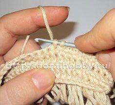 Вязание коврика узором 'мех'