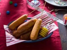 "Corn Dogs (Day at the Fair) - Tiffani Thiessen, ""Dinner at Tiffani's"" on the Cooking Channel."